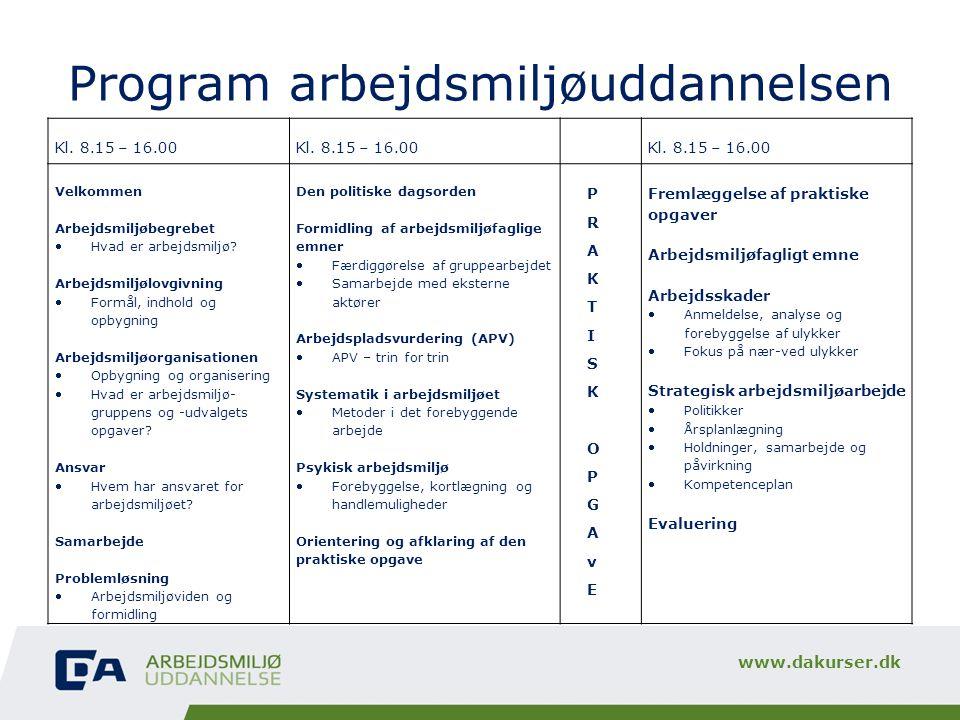 Program arbejdsmiljøuddannelsen