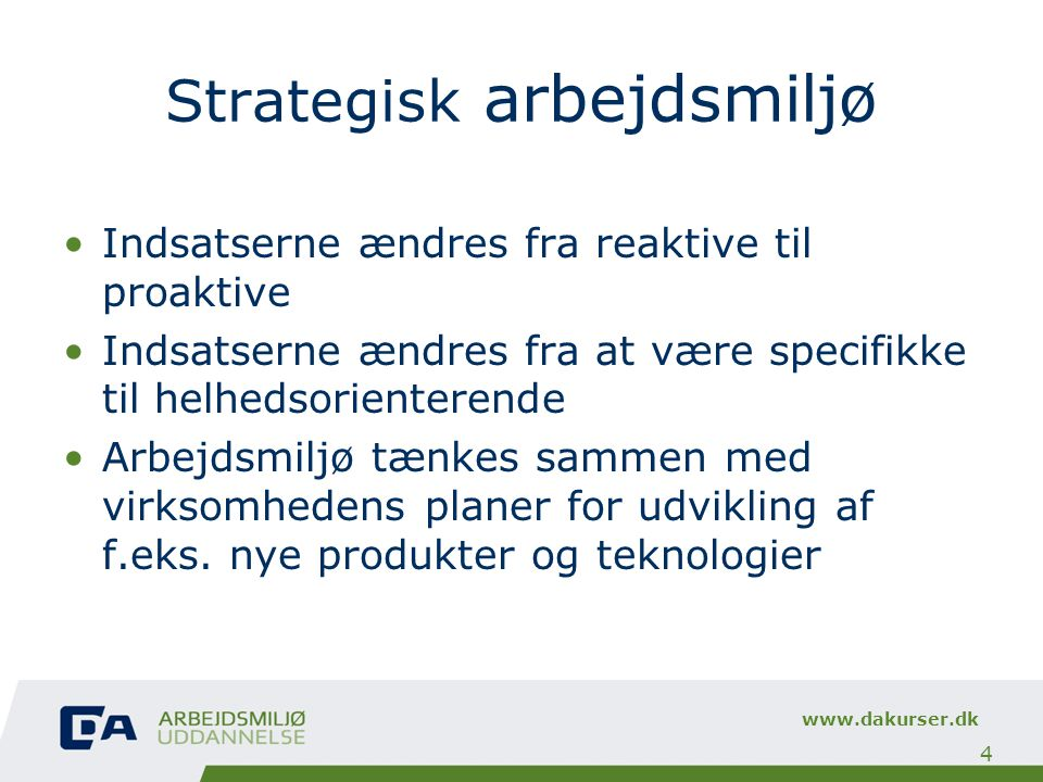 Strategisk arbejdsmiljø