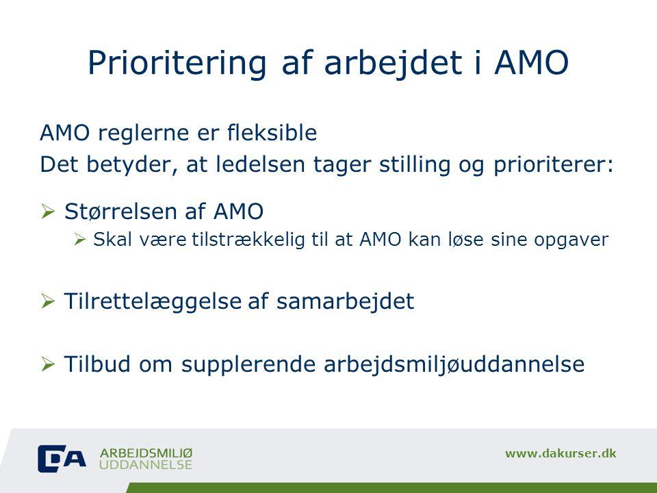 Prioritering af arbejdet i AMO