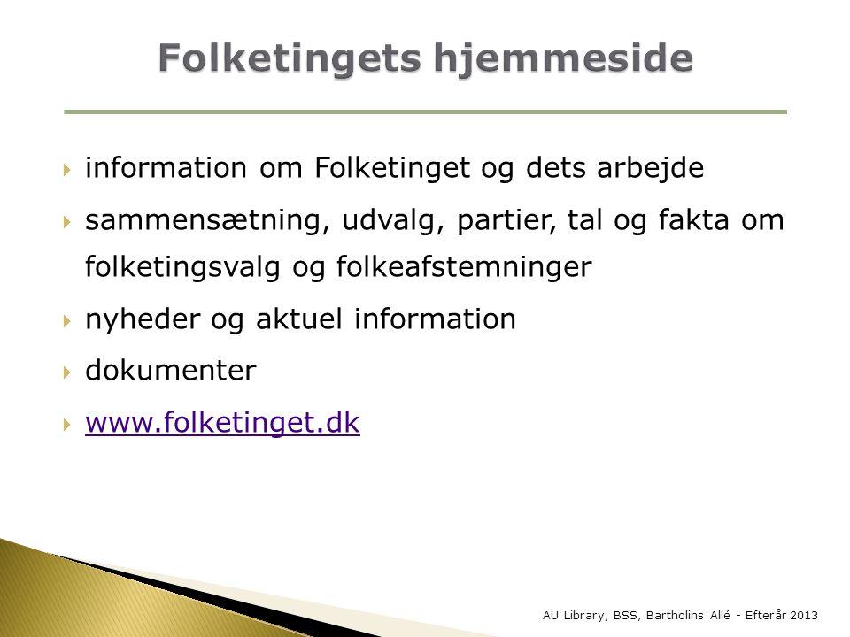 Folketingets hjemmeside