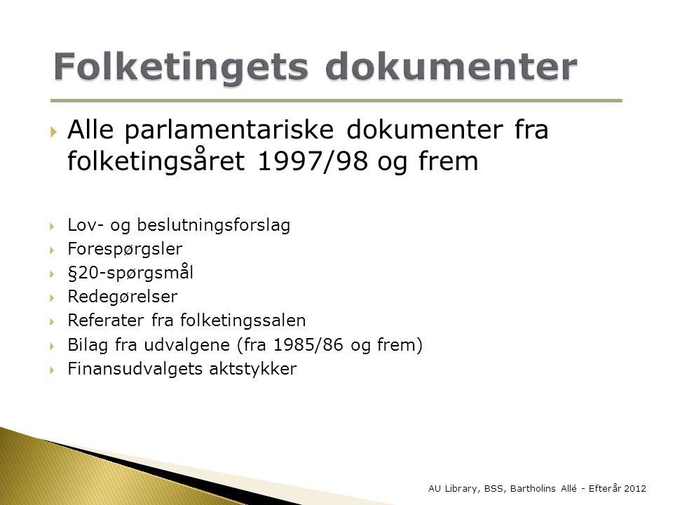 Folketingets dokumenter
