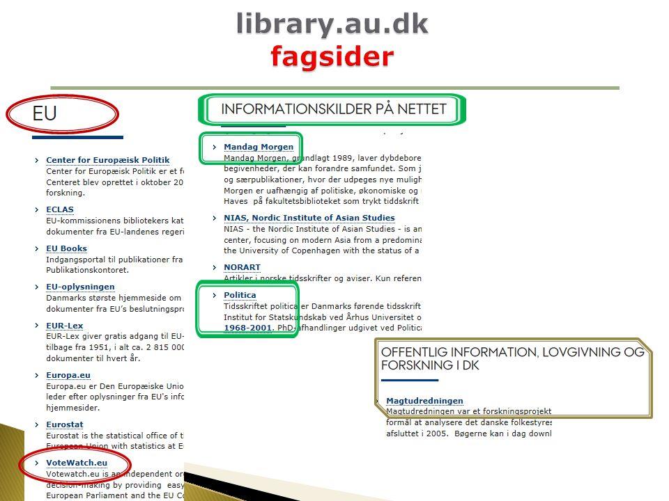 library.au.dk fagsider