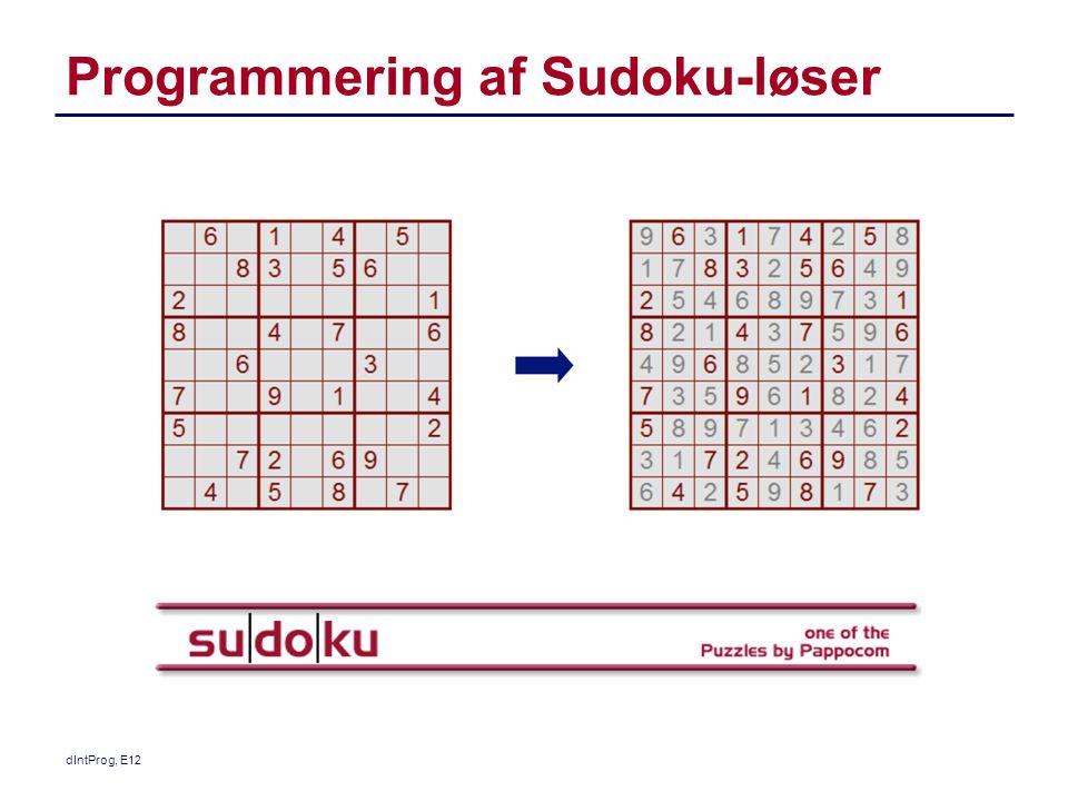 Programmering af Sudoku-løser