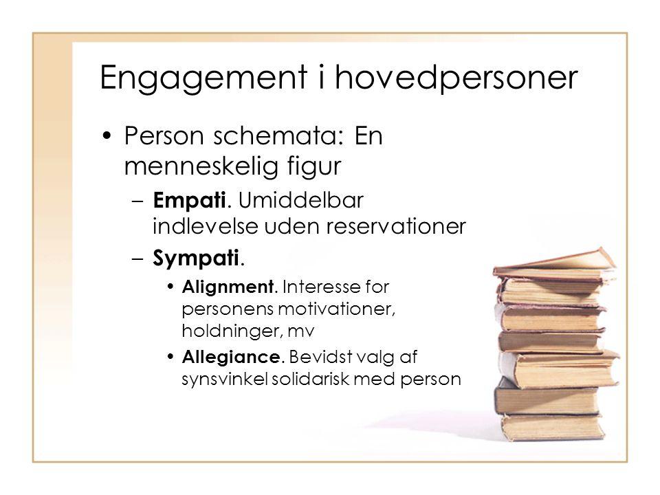 Engagement i hovedpersoner