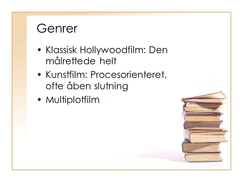 Genrer Klassisk Hollywoodfilm: Den målrettede helt