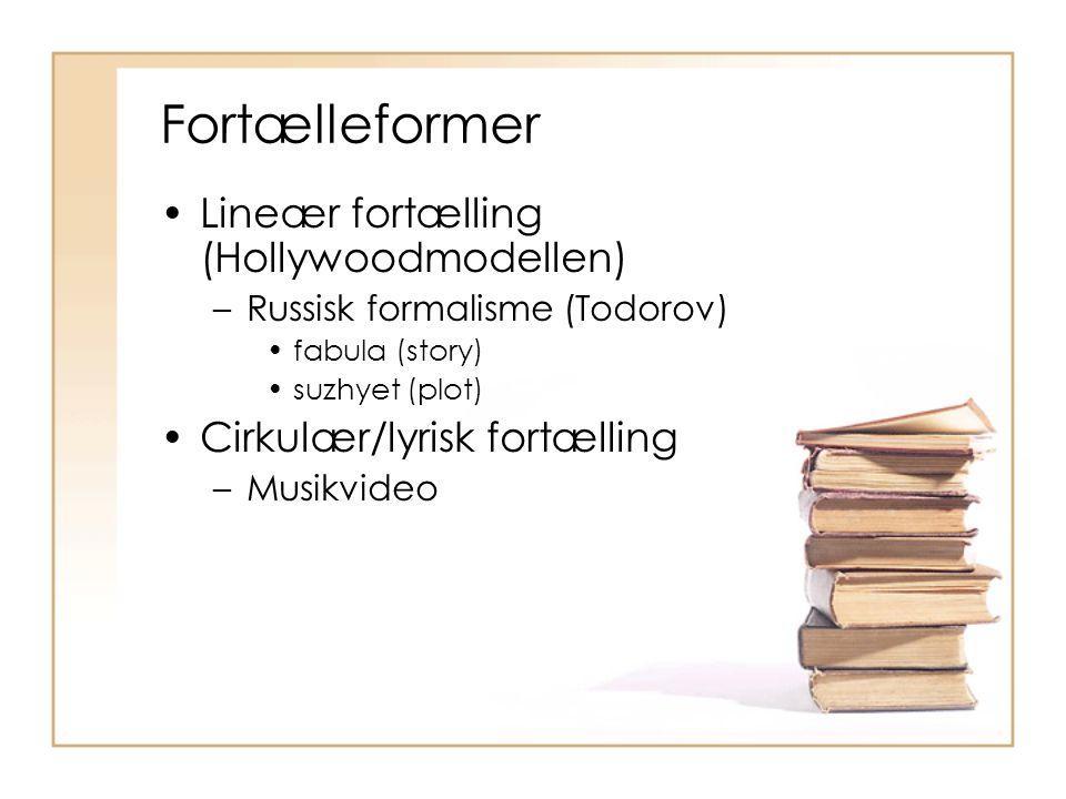 Fortælleformer Lineær fortælling (Hollywoodmodellen)