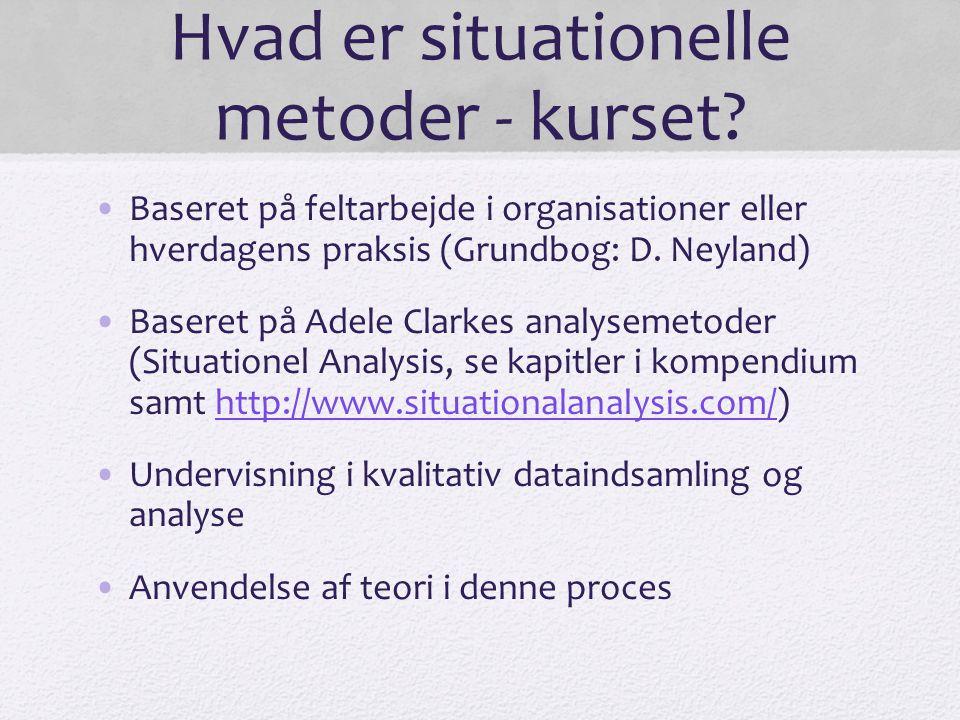 Hvad er situationelle metoder - kurset