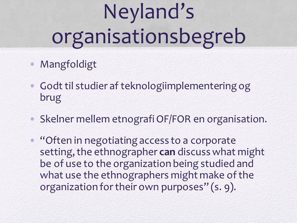 Neyland's organisationsbegreb