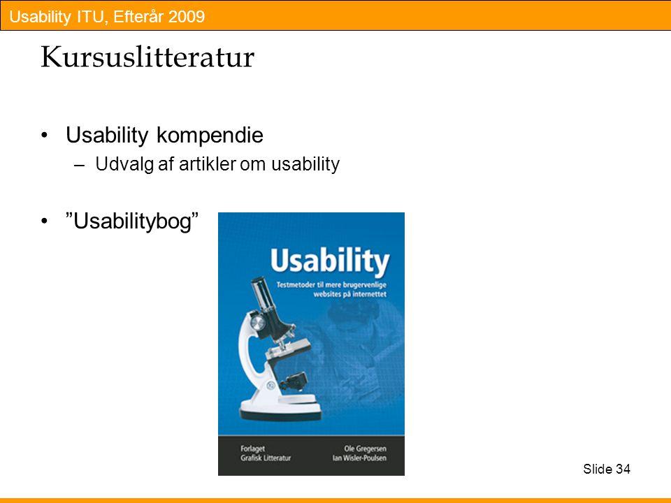 Kursuslitteratur Usability kompendie Usabilitybog
