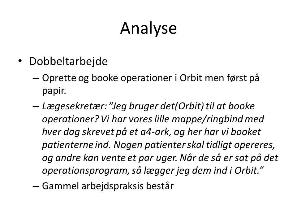 Analyse Dobbeltarbejde