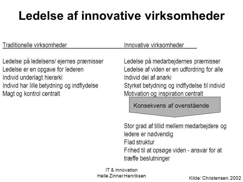 Ledelse af innovative virksomheder