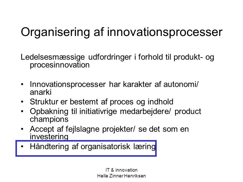 Organisering af innovationsprocesser