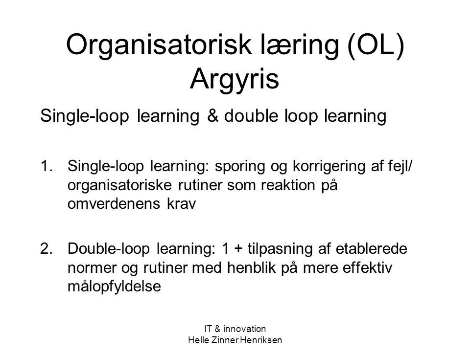 Organisatorisk læring (OL) Argyris