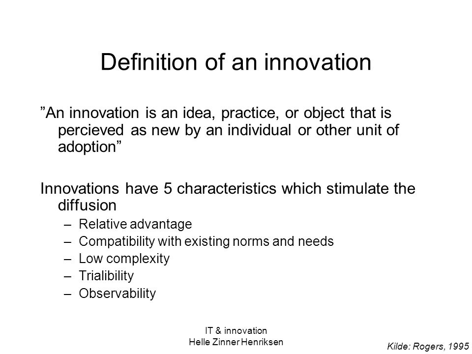 Definition of an innovation