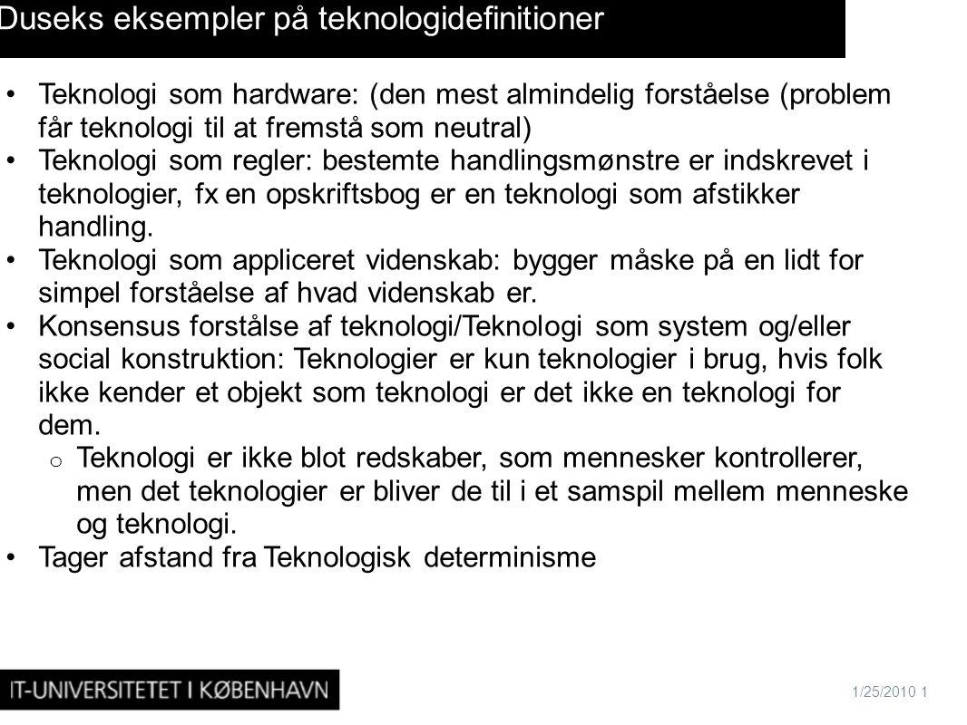 Duseks eksempler på teknologidefinitioner