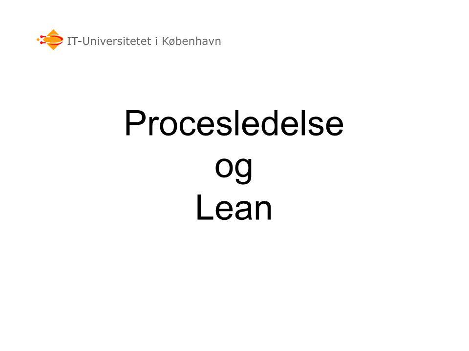 Procesledelse og Lean