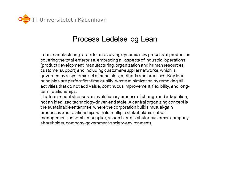 Process Ledelse og Lean