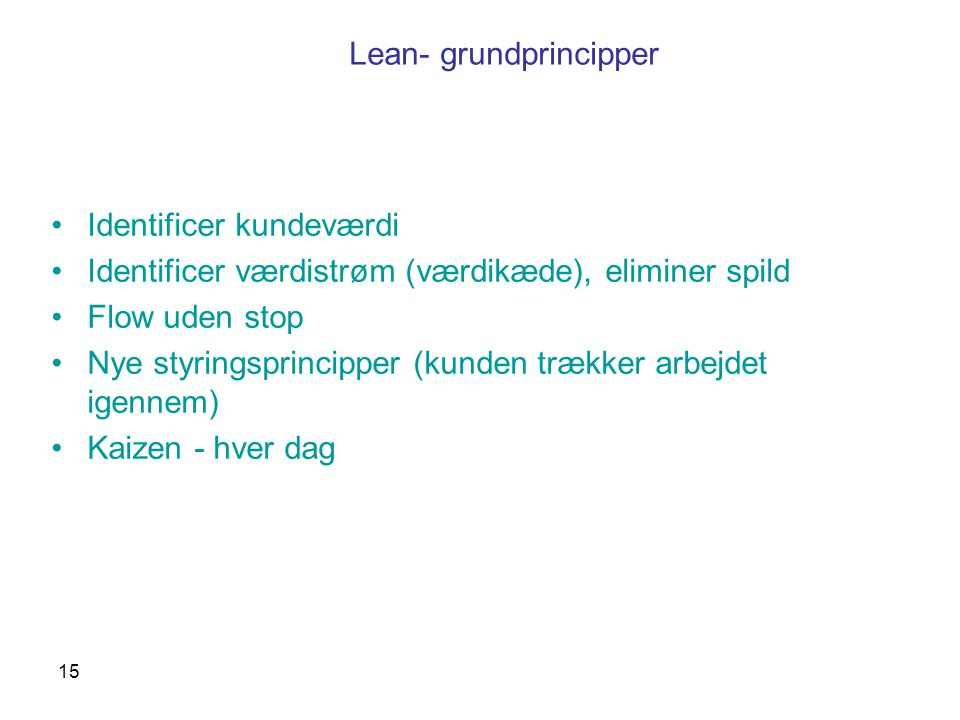 Lean- grundprincipper