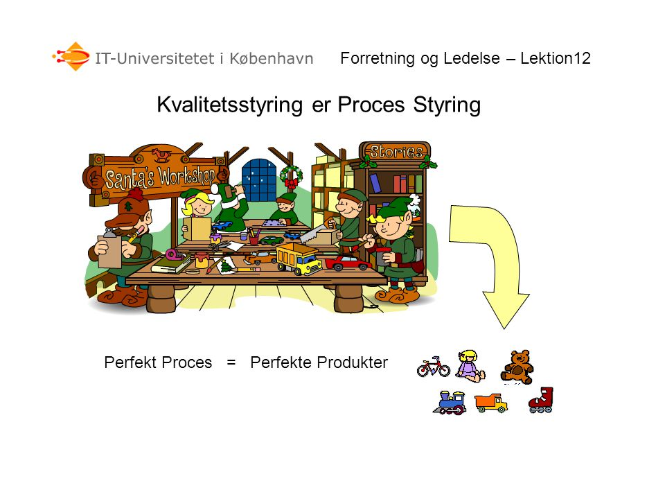 Kvalitetsstyring er Proces Styring