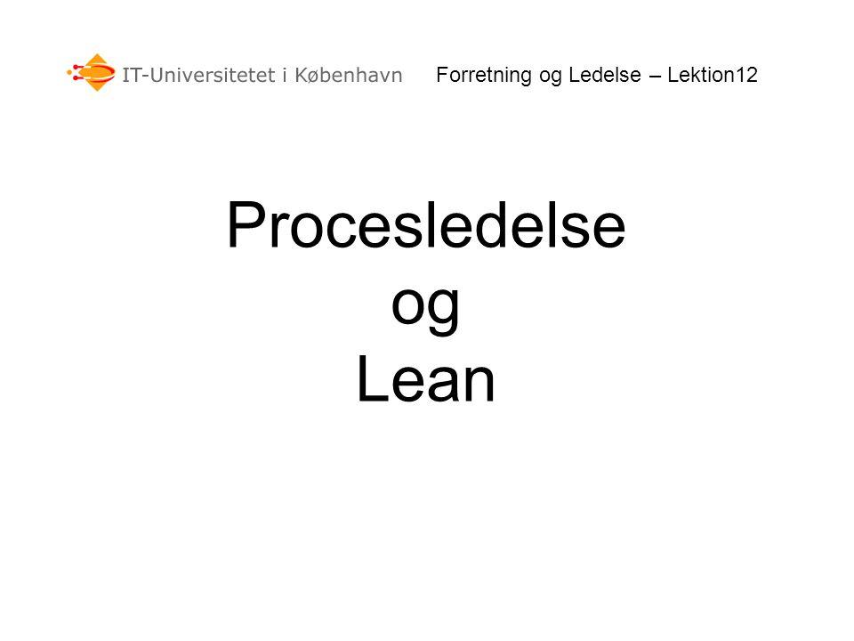 Forretning og Ledelse – Lektion12