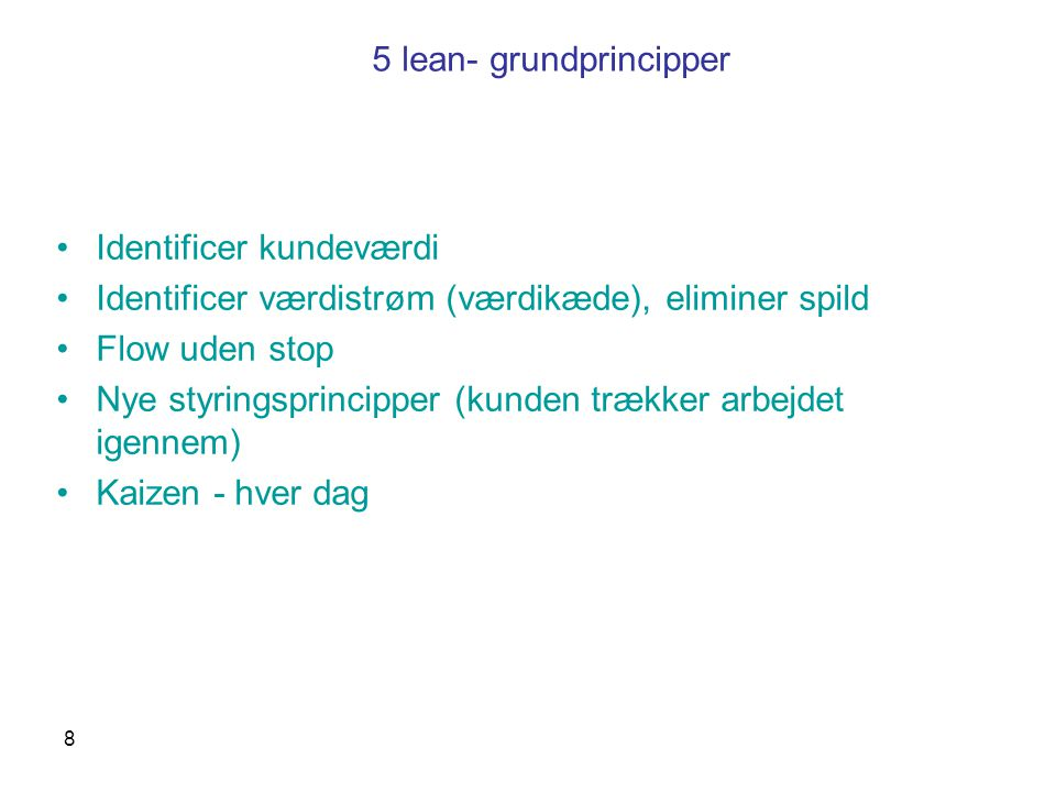 5 lean- grundprincipper