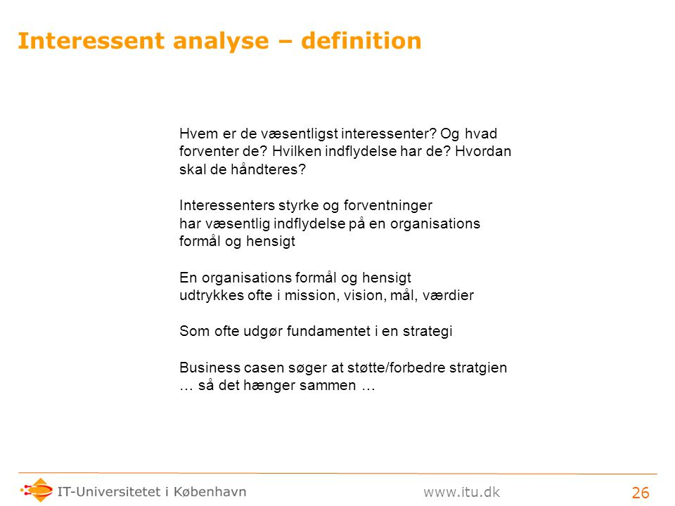 Interessent analyse – definition