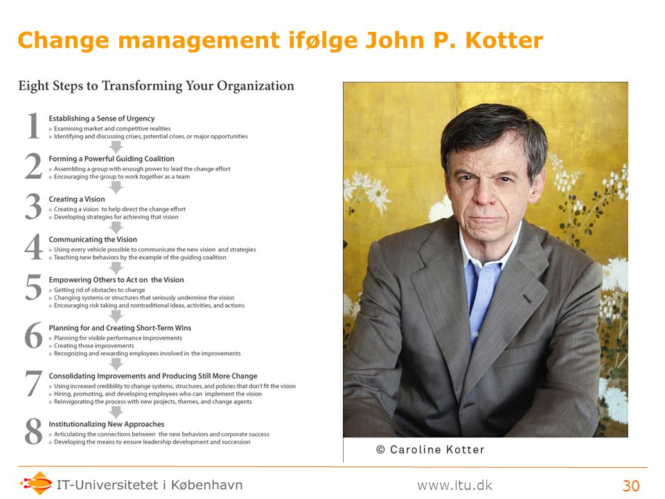 Change management ifølge John P. Kotter