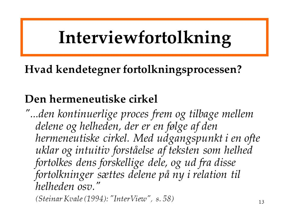 Interviewfortolkning