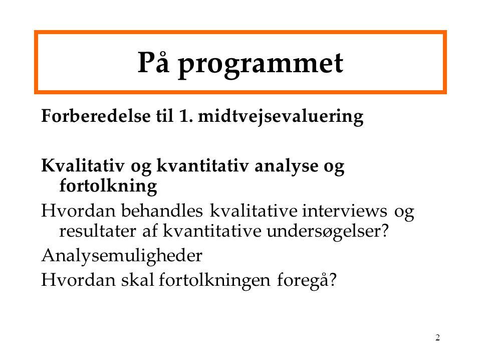På programmet Forberedelse til 1. midtvejsevaluering