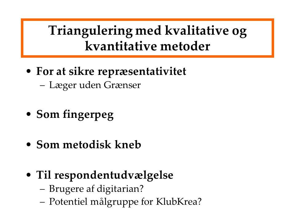 Triangulering med kvalitative og kvantitative metoder