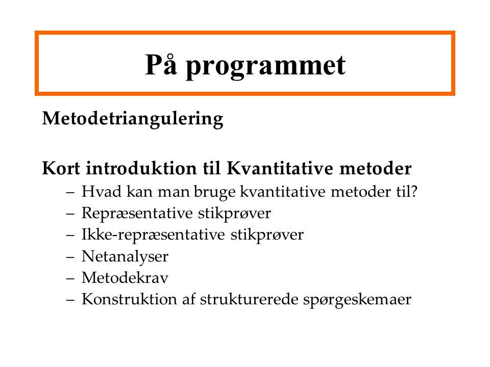 På programmet Metodetriangulering