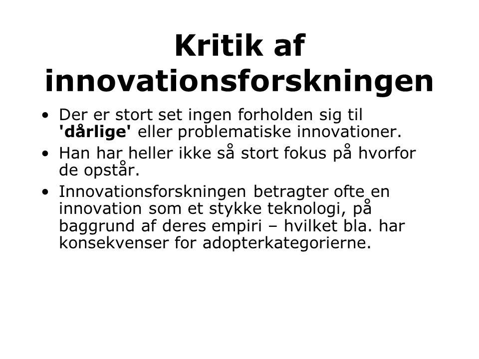 Kritik af innovationsforskningen