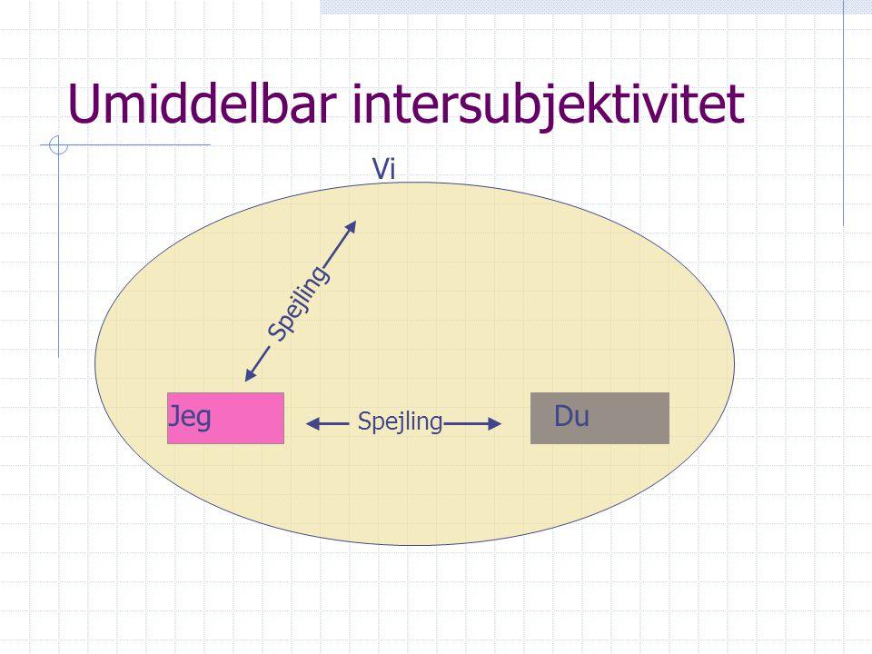 Umiddelbar intersubjektivitet