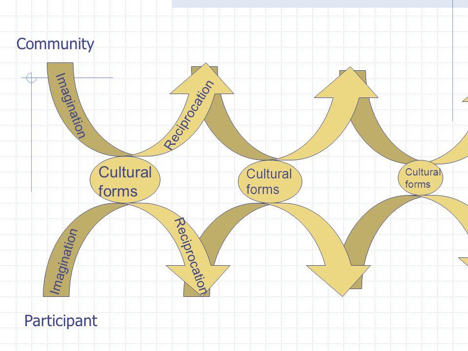 Community Cultural forms Participant Imagination Reciprocation