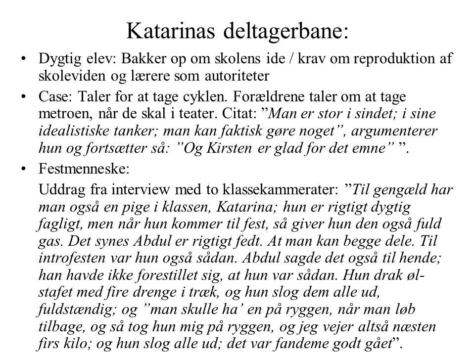 Katarinas deltagerbane: