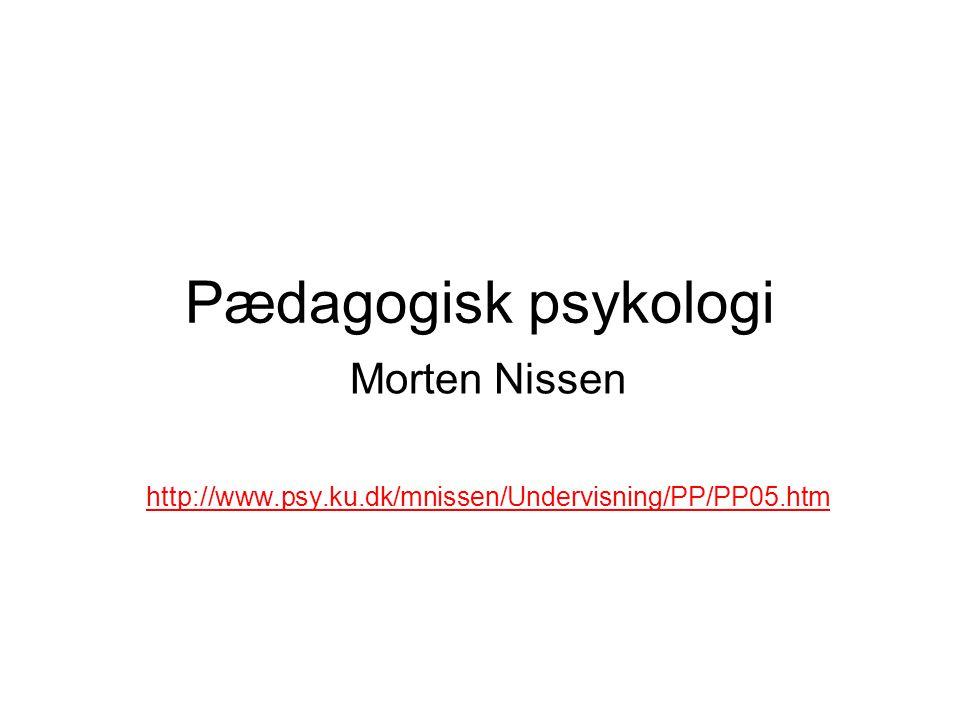 Morten Nissen http://www.psy.ku.dk/mnissen/Undervisning/PP/PP05.htm