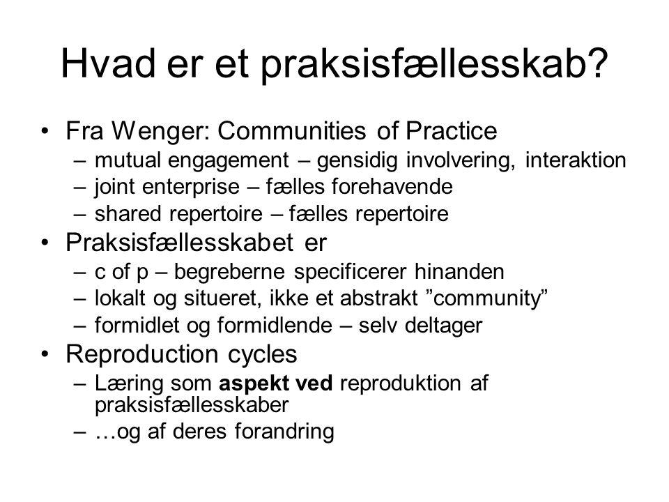 Hvad er et praksisfællesskab