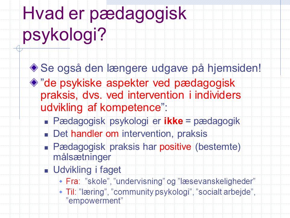 Hvad er pædagogisk psykologi