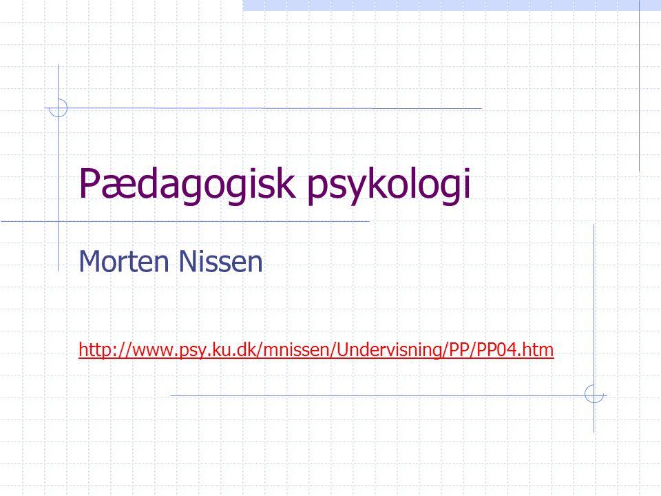 Morten Nissen http://www.psy.ku.dk/mnissen/Undervisning/PP/PP04.htm