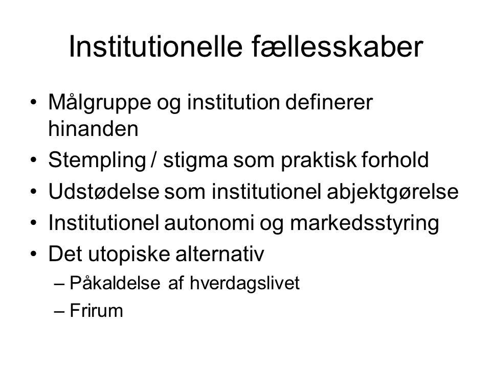 Institutionelle fællesskaber