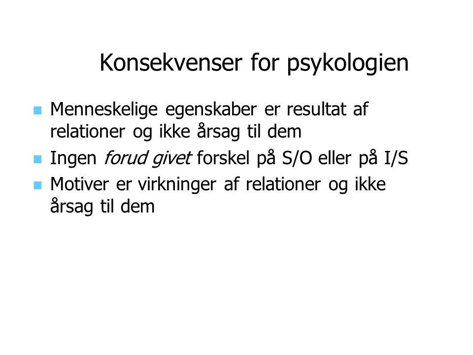 Konsekvenser for psykologien