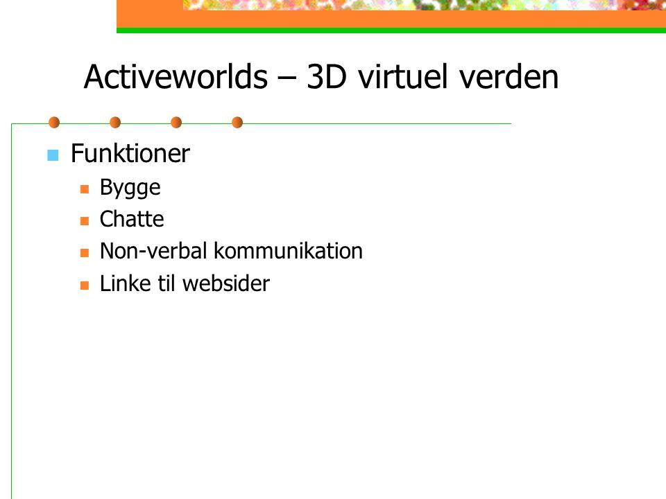 Activeworlds – 3D virtuel verden