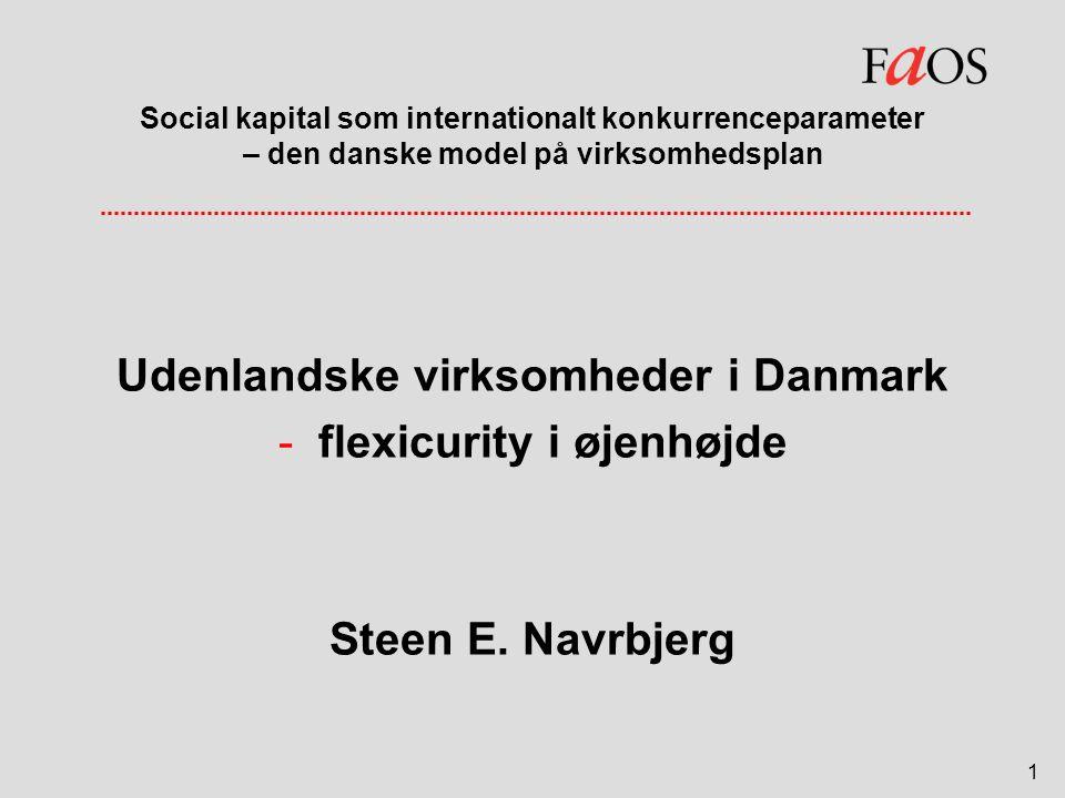 Udenlandske virksomheder i Danmark flexicurity i øjenhøjde