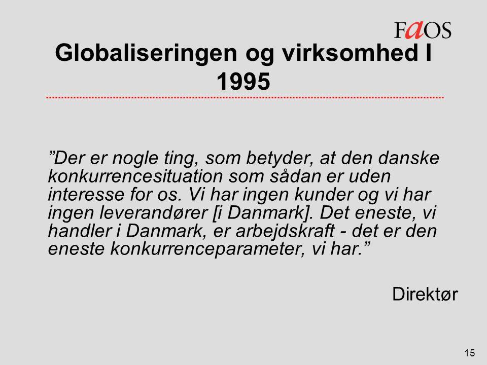 Globaliseringen og virksomhed I 1995
