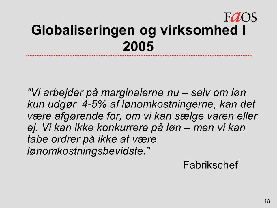 Globaliseringen og virksomhed I 2005