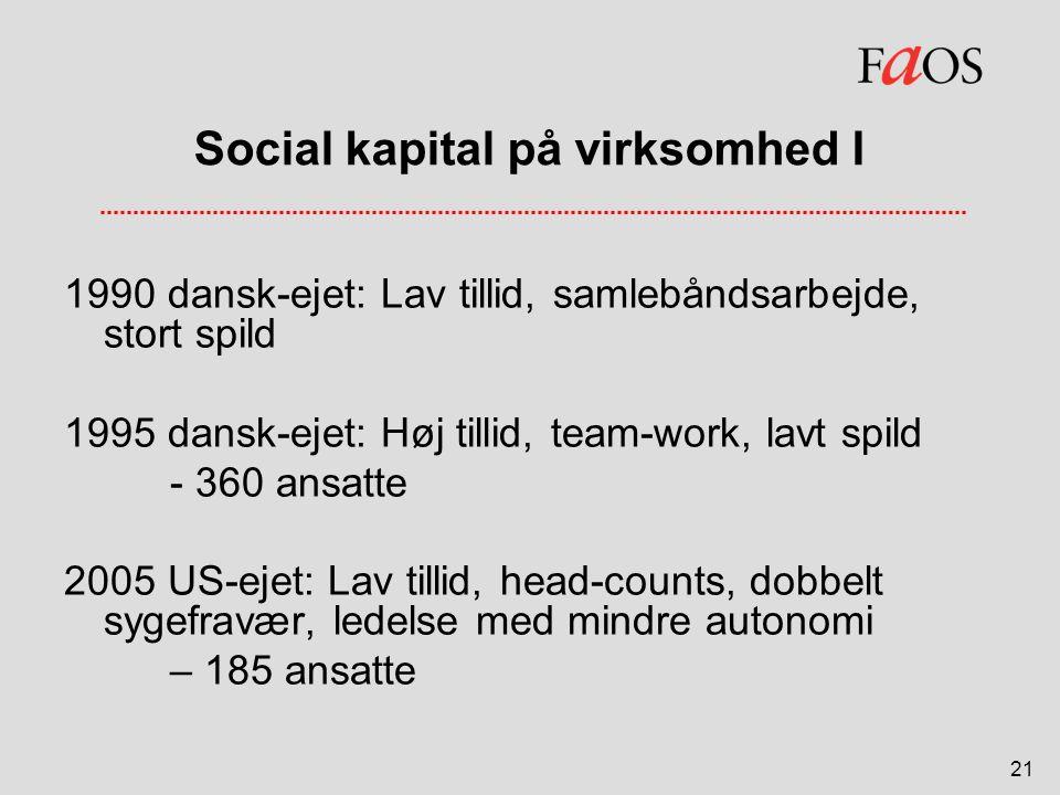 Social kapital på virksomhed I