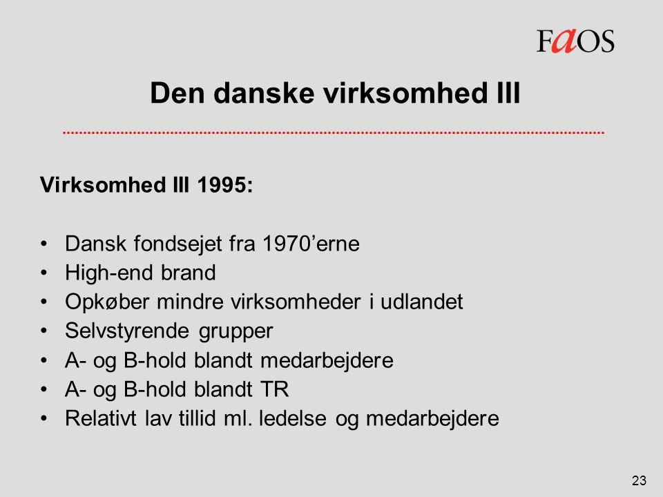 Den danske virksomhed III