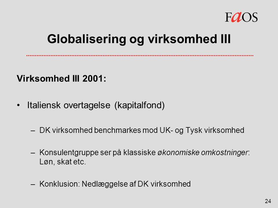 Globalisering og virksomhed III