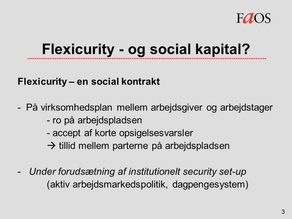 Flexicurity - og social kapital