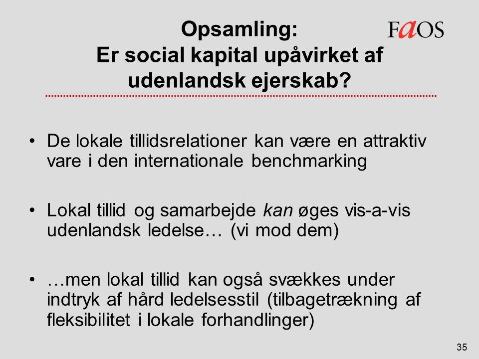 Opsamling: Er social kapital upåvirket af udenlandsk ejerskab